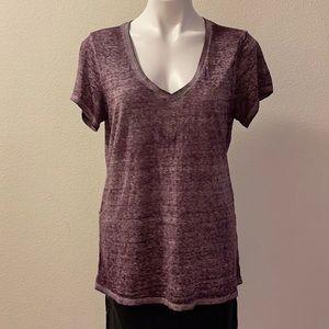 Threads 4 Thought Burnout V-neck T-shirt Purple